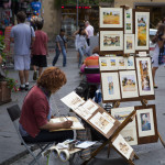 Street Artists Selling Their Paintings Are All Over The City Florence