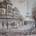 Street Scenery Oil Painting Wholesale Hand Painted