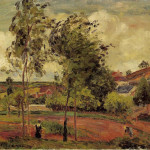 Strong Winds Pontoise Camille Pissarro Wikipaintings