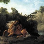 Stubbs Lion Devouring Horse Painting Best Paintings For Sale