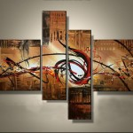 Style Modern Abstract Oil Painting Canvas Sets Design
