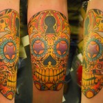 Sugar Skull Tattoo Art The Flesh