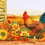 Sunflower And Rooster Decor Kitchen Art Prints Canvas