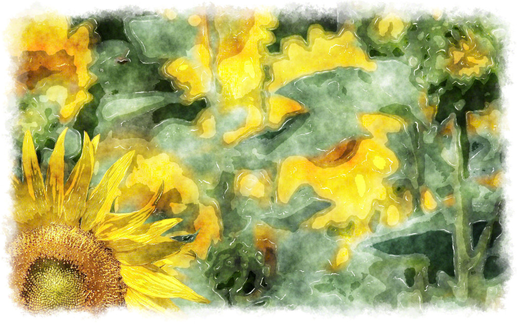 Sunflower Watercolor Painting