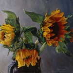 Sunflowers Painting Donna Theis Fine Art Prints And