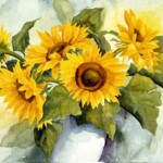 Sunflowers Vase Paintings For Sale Sales