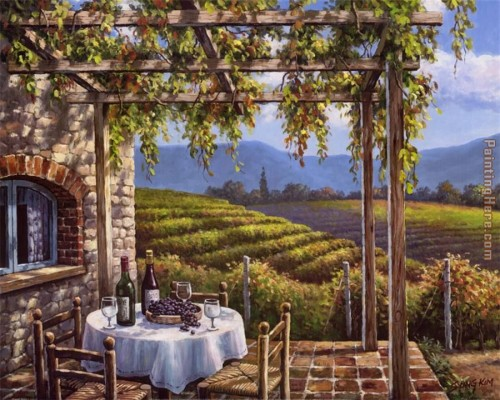Sung Kim Vineyard Terrace Painting Anysize Off