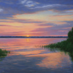 Sunrise The Rappahannock River Virginia Oil Paintings
