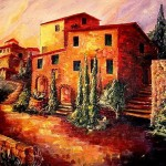 Sunset Tuscany Sold Diane Millsap From Landscapes