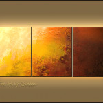Sunshine Abstract Art Painting Image