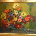 Superb Large American Still Life Oil Painting Flowers Signed