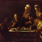 Supper Emmaus Caravaggio Painting