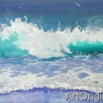 Surf Wave Paintings The Ocean And Sea This Nautical Art