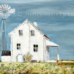 Swartz Fine Art Gallery Simple Dwelling Amish House Oil Painting