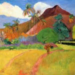 Tahitian Mountains Paul Gauguin Wikipaintings