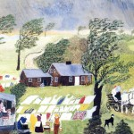 Taking The Laundry Grandma Moses Wikipaintings