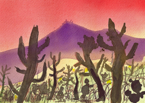 Terry Ink And Watercolor Edge The Desert
