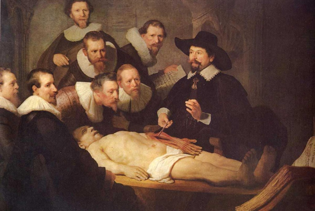 The Anatomy Lesson Tulp Rembrandt Self Portrait
