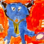 The Artist Playground Completed Paintings Blue Dog