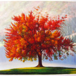 The Autumn Tree Ted Drakness Traditional Art Paintings Landscapes