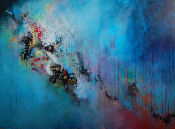The Awakening Large Contemporary Abstract Painting Acrylic And