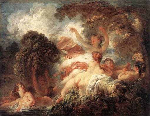 The Bathers Jean Honore Fragonard Oil Painting Reproduction