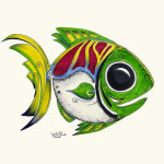 The Contemporary Fish Art Vincent Scarpace Paintings