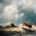 The Dutch Coast Painting Andreas Achenbach Oil
