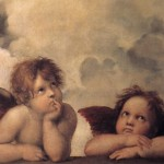 The Famous Painting Istine Madonna Angels Oil