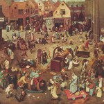 The Fight Between Carnival And Lent Brueghel