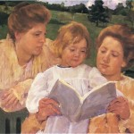 The Garden Reading Mary Cassatt Paintings Image