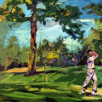 The Golf Course Vintage Golfers Painting Ginette Fine Art Llc