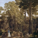 The Hanging Rock William Ford Australian Oil Painting Reproduction
