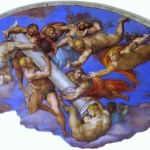 The Last Judgment Famous Art Work Drawing Michelangelo
