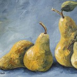 The Little Pear Momma And Three Baby Pears