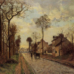 The Louveciennes Road Camille Pissarro Wikipaintings
