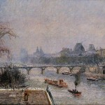 The Louvre Morning Snow Effect Painting Camille