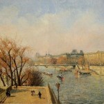 The Louvre Morning Sun Painting Camille Pissarro