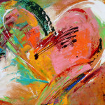 The Love Contemporary Abstract Heart Paintings Elizabeth Chapman