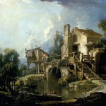 The Mill Charenton Fran Ois Boucher Oil Painting
