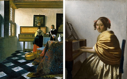 The Music Lesson And Young Woman Seated Virginal
