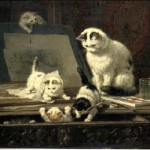 The Pampered And Playful Cat Paintings Victorian Era Artist