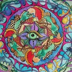 The Psychedelic Promise Singleton Hippie Art