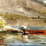 The Red Canoe Winslow Homer Wikipaintings