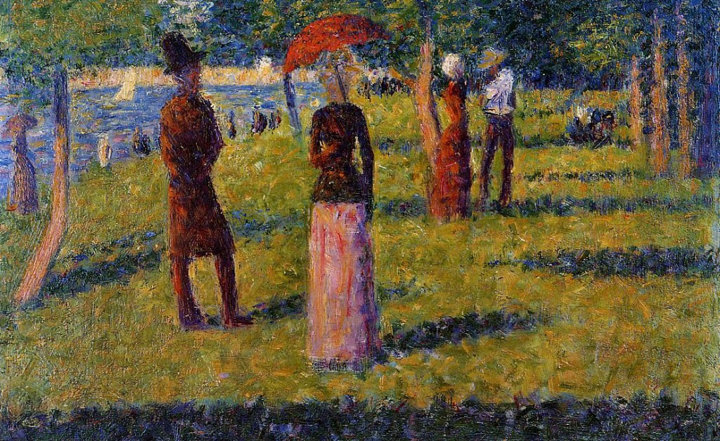 The Rope Colored Skirt Georges Seurat Wikipaintings