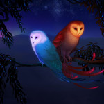 The Sun And Moon Picture Fantasy Night Owl