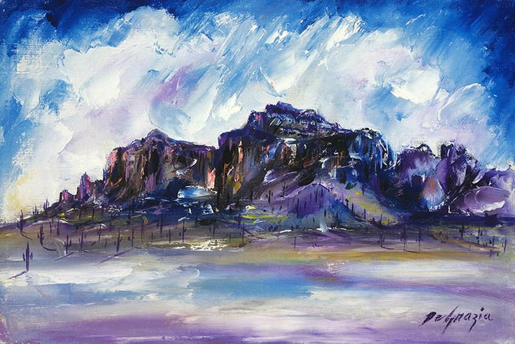 The Superstition Mountains Popularly Called Degrazia Art