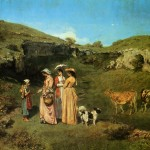 The Village Maidens Gustave Courbet Wikipaintings