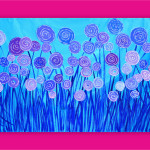 Theodore Original Abstract Flowers Paintings Choice Designs