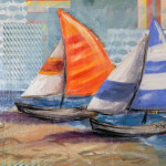 These Sailboat Paintings Are Both For Sale And Measure Canvas